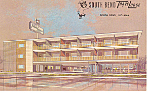 South Bend IN Travel Lodge Postcard p13769 1966 (Image1)