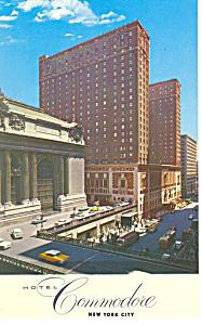 Hotel Commodore New York City Postcard p13772 1963 (Image1)