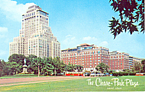 Chase Park Plaza Hotel St Louis MO Postcard p13774 1963 (Image1)