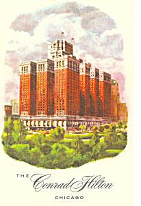 Conrad Hilton Hotel, Chicago, IL Postcard p13784 1961 (Image1)