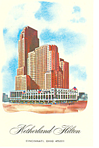 Netherland Hilton Cincinnati OH Postcard p13792 1971 (Image1)