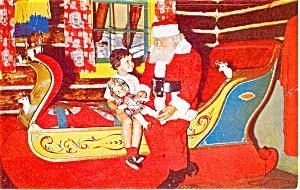 Wilmington  NY North Pole Santa Postcard p1382 (Image1)