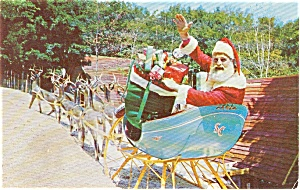 Wilmington  NY Santa at North Pole Postcard p1383 (Image1)