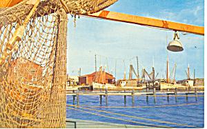 Gulf Coast Fishing Boats Postcard p13858 (Image1)