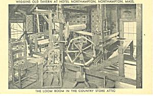 Wiggins Old Tavern Northampton MA Postcard p13874 (Image1)