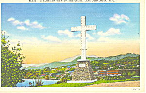 Lake Junaluska, NC Cross Postcard (Image1)