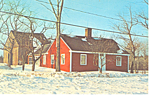 New England Homestead Postcard