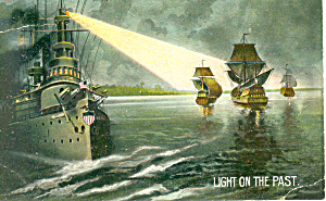 Navy Ships Past and Present Postcard p13918 (Image1)