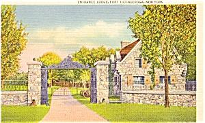 Fort Ticonderoga NY Lodge Postcard p1394 (Image1)