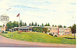 Charter House Motor Hotel Kittery ME Postcard p13952 (Image1)