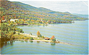 Lake George NY  Aerial View Postcard p1396 (Image1)