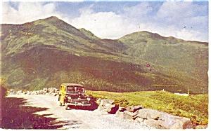 Mt Adams and Madison NH Postcard p14017 1975 Woody Wagon  (Image1)
