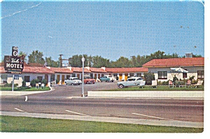 Boulder City Nv Vale Motel Postcard P14043 Cars Of 50s