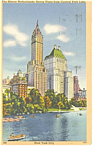 New York City Central Park Hotels Postcard P14068 1957