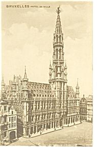 Bruxelles Hotel de Ville Postcard p14070 (Image1)