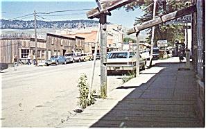 Virginia City MT Street Scene Postcard p14097 Cars 60s (Image1)
