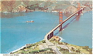 Golden Gate Bridge CA Postcard p1409 (Image1)