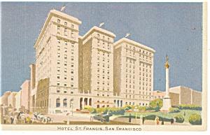 San Francisco,CA, St Francis Hotel Postcard (Image1)