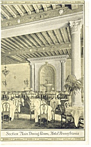 New York Hotel Pennsylvania Interior Postcard P14162 1928