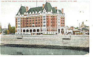 Victoria, BC, Hotel Empress Postcard 1908 (Image1)