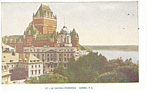 Montreal Quebec Le Chatteau Frontenac Postcard p14204 (Image1)