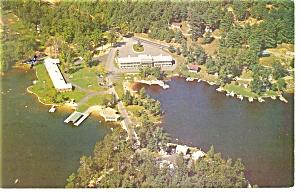 Lake Winnipesaukee NH Christmas Motel Postcard p14217 (Image1)