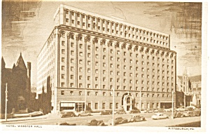Pittsburgh PA Hotel Webster Hall Postcard p14228 (Image1)