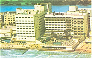 Miami Beach, FL, The Barcelona Hotel Postcard 1974 (Image1)
