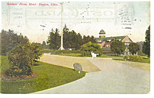 Dayton,OH, Soldiers' Home Hotel Postcard 1909 (Image1)