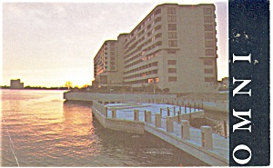 Norfolk, VA, Omni International Hotel Postcard 1977 (Image1)