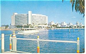 Miami Beach, FL, Foutainbleau Hotel and Cabana Postcard (Image1)
