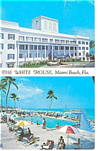 Miami Beach,FL, The White House Postcard 1959 (Image1)