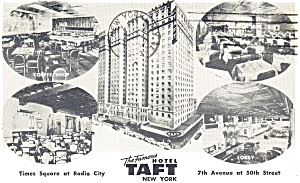 New York City NY Hotel Taft Multi View Postcard p14289 (Image1)