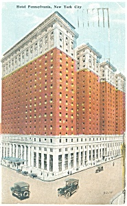 New York City NY Hotel Pennsylvania Postcard p14311 1921 (Image1)