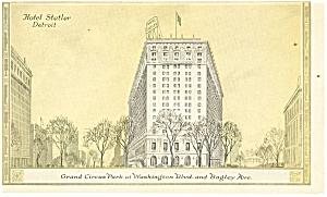 Detroit  MI Hotel Statler Postcard p14313 (Image1)
