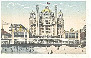 Atlantic City NJ Hotel Marlbourgh Blenheim Postcard p14315 (Image1)