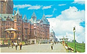 Quebec Canada La Promenade sur la Terrassee Postcard p14317 (Image1)