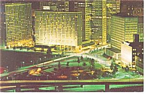 Pittsburgh PA Pittsburgh Hilton at Night Postcard p14322 (Image1)