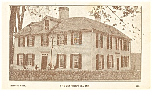 Norwich CT The Leffingwell Inn Postcard p14346 1981 (Image1)