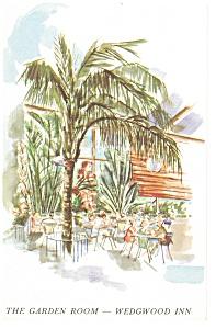 St Petersburg  FL Garden Room Wedgwood Inn Postcard p14357 (Image1)