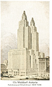 New York City NY Waldorf Astoria Postcard p14368 (Image1)