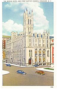 Syracuse, NY, Mizpah Hotel Postcard (Image1)