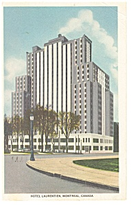 Montreal Quebec  Hotel  Laurentien Postcard p14378 1953 (Image1)