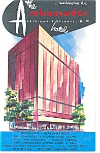 Washington DC The Ambassador Hotel Postcard p14398 (Image1)