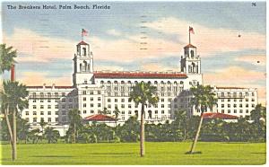 Palm Beach FL The Breakers Postcard p14401 1957 (Image1)