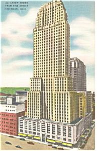 Cincinnati OH 22 Carew Tower Postcard p14404 (Image1)