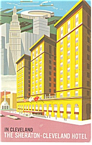 Cleveland  OH Sheraton Cleveland Hotel Postcard p14405 (Image1)