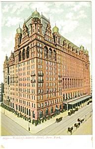New York City  NY Waldorf Astoria Hotel Postcard p14406 (Image1)