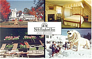 North Conway NH New England Inn Postcard p14419 (Image1)
