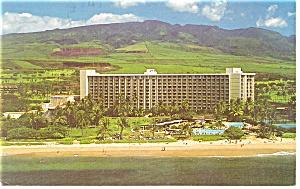 Kaanapali Beach Maui HI Maui Surf Hotel Postcard p14423 1985 (Image1)